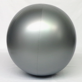 4 foot Silver Vinyl Display Ball