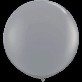 36 inch Tuf-Tex Round Latex Balloons - Smoke Gray