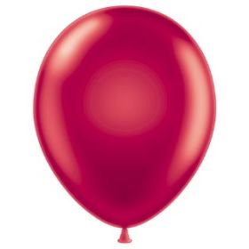 17 inch Tuf-Tex Metallic Starfire Red Latex Balloons - 50 count