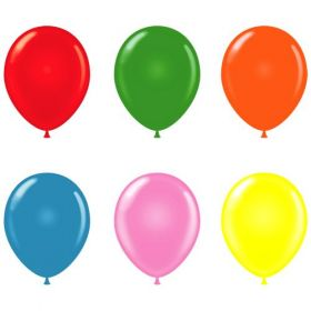 14 inch Tuf-Tex Assorted Standard Latex Balloons - 100 count