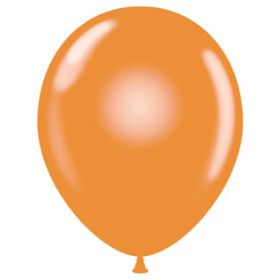 11 inch Tuf-Tex Latex Balloons - Tangerine - 100 count