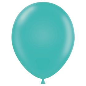 17 inch Tuf-Tex Teal Latex Balloons - 50 count