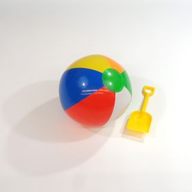 12 inch Traditional 6 Color Beach Balls (8 inch inflated diameter)