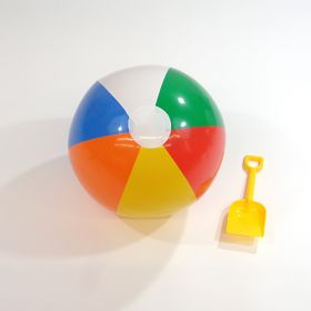 16 inch Traditional 6 Color Beach Balls (11 inch inflated diameter)