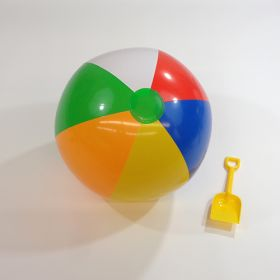 20 inch Traditional 6 Color Beach Balls (14 inch inflated diameter)