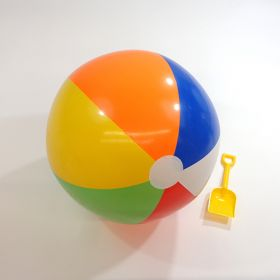 24 inch Traditional 6 Color Beach Balls (17 inch inflated diameter)