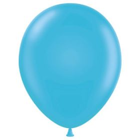 17 inch Tuf-Tex Turquoise Latex Balloons - 50 count