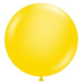 36 inch Tuf-Tex Standard Yellow Latex Balloon