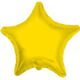 18 inch Yellow Star Foil Balloons