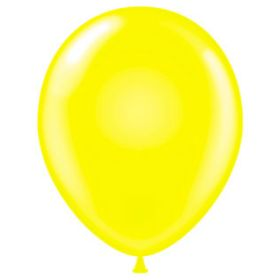 17 inch Tuf-Tex Standard Yellow Latex Balloons - 72 count