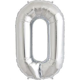 34 inch Kaleidoscope Silver Letter O Foil Mylar Balloon