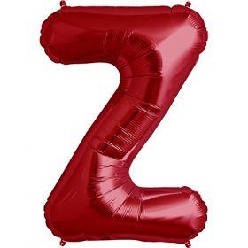 34 inch Red Letter Z Foil Mylar Balloon