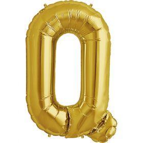 34 inch Kaleidoscope Gold Letter Q Foil Mylar Balloon