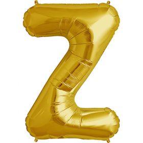 34 inch Kaleidoscope Gold Letter Z Foil Mylar Balloon