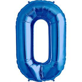 34 inch Kaleidoscope Blue Letter O Foil Balloon