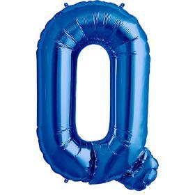 34 inch Kaleidoscope Blue Letter Q Foil Balloon