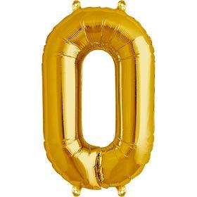16 inch Northstar Gold Number 0 Foil Mylar Balloon