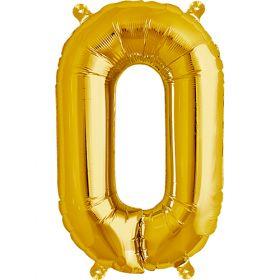 16 inch Northstar Gold Letter O Foil Mylar Balloon