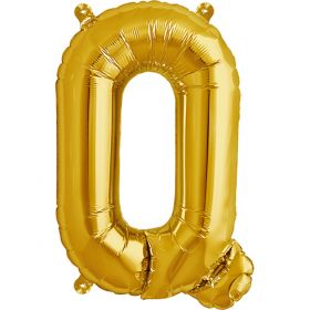 16 inch Northstar Gold Letter Q Foil Mylar Balloon
