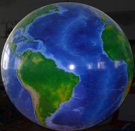 7 foot Vinyl Globe Earth Balloon