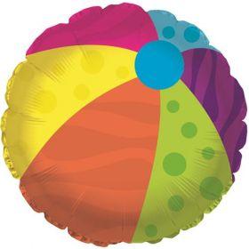 18 inch Beach Ball Foil Mylar Circle Balloon