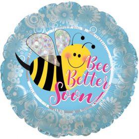 18 inch Bee Better Soon Circle Foil Mylar Balloon
