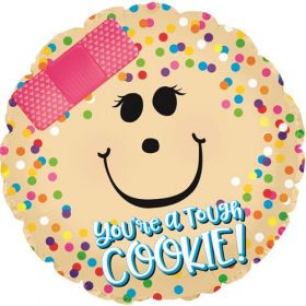 18 inch You're a Tough Cookie Get Well Circle Foil Mylar Balloon