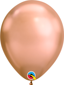 11 inch Qualatex Chrome Rose Gold Latex Balloons - 100 count