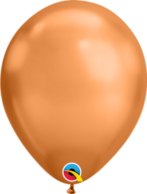 11 inch Qualatex Chrome Copper Latex Balloons - 100 count