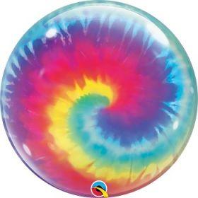22 inch Qualatex Tye Dye Swirls Bubble Balloon