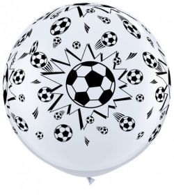 Qualatex Soccer Ball Design Wrap Print 36 inch Latex Balloons - 2 count