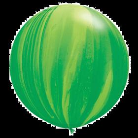 Qualatex Green Rainbow Agate 30 inch Latex Balloon - 2 count