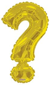 34 inch Kaleidoscope Gold Question Mark Symbol Foil Balloon