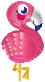 28 inch Flamingo Shape Foil Mylar Balloon