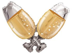 36 inch Champagne Glasses Shape Foil Mylar Balloon