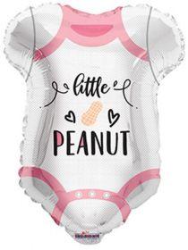 18 inch Pink Little Peanut Onesie Shape Foil Mylar Balloon