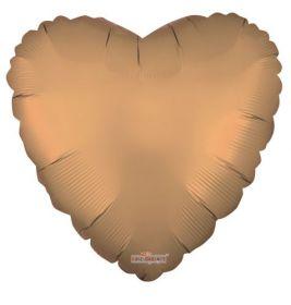 18 inch Matte Gold Heart Foil Balloons - flat