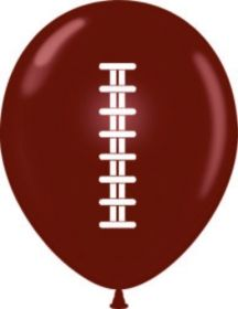 11 inch Tuf-Tex Football Latex - 2 sided, cocoa w/ white ink - 100 count