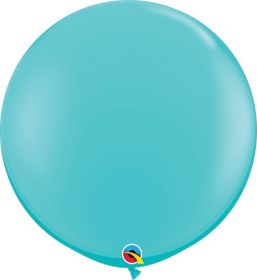 36 inch Qualatex Caribbean Blue Latex Balloons - 2 count