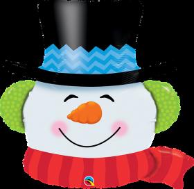 36 inch Qualatex Christmas Smilin' Snowman Foil Balloon - Packaged