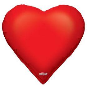 28 inch Red Poker Heart Shape Foil Mylar Balloon