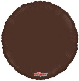 18 inch Chocolate Brown Circle Foil Balloons