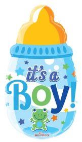 20 inch It's a Boy Baby Bottle Shape Foil Mylar Balloon