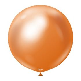 24 inch Kalisan Copper Mirror Chrome Latex Balloons - 2 ct
