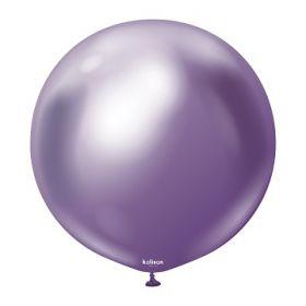 24 inch Kalisan Violet Mirror Chrome Latex Balloons - 2 ct