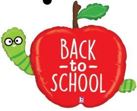 40 inch Betallic Back to School Apple Shape Foil Balloon - Flat