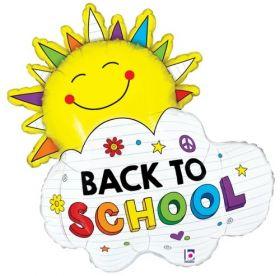 31 inch Betallic Back to School Sunshine Foil Balloon - Flat