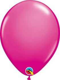 11 inch Qualatex Wild Berry Latex Balloons - 100 count