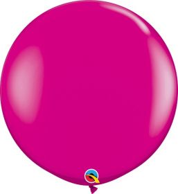 36 inch Qualatex Wild Berry Latex Balloons - 2 count