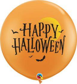 36 inch Qualatex Halloween Moon and Bats Latex - 2 count